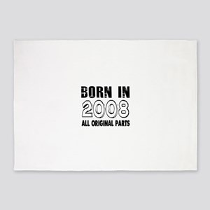 Born In 2008 5'x7'Area Rug
