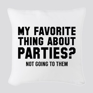 Not Going To Them Woven Throw Pillow