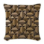 Wood Woven Throw Pillow