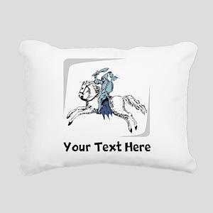 Knight On Horse (Custom) Rectangular Canvas Pillow