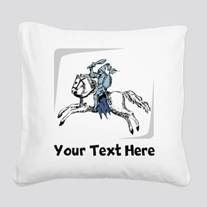 Knight On Horse (Custom) Square Canvas Pillow