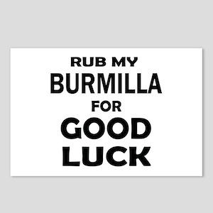Rub my Burmilla for good Postcards (Package of 8)