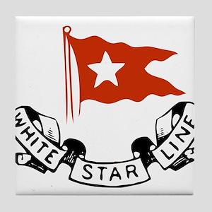WhiteStar Tile Coaster