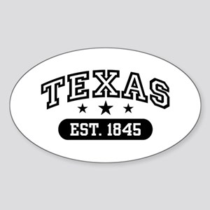Texas Est. 1845 Sticker (Oval)