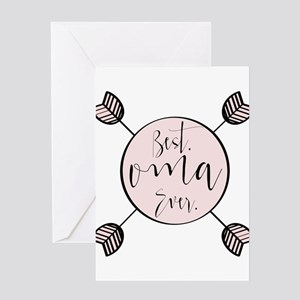 Best Oma Ever Greeting Cards