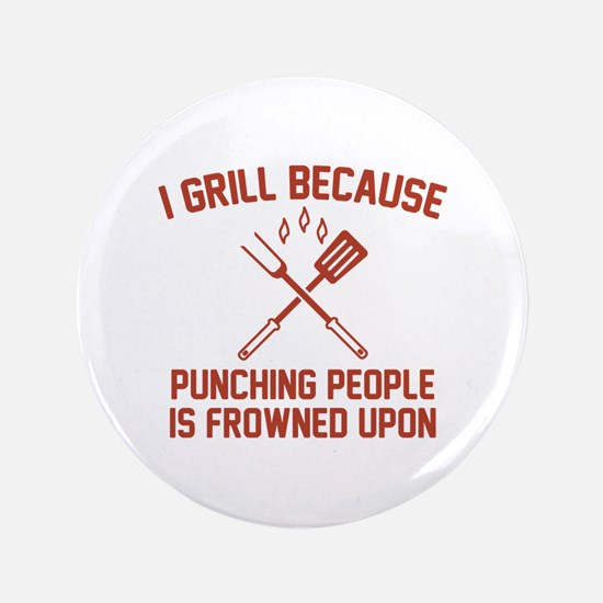 """I Grill 3.5"""" Button (100 pack)"""