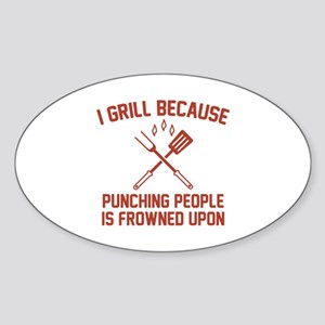I Grill Sticker (Oval)