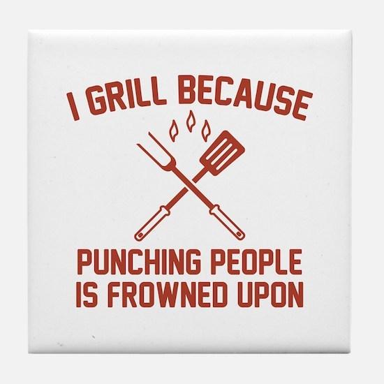 I Grill Tile Coaster