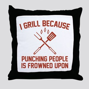 I Grill Throw Pillow