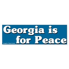 Georgia is for Peace Bumper Bumper Sticker