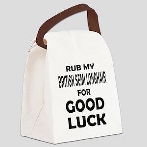 Rub my British semi-longhair for Canvas Lunch Bag