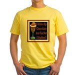 Chocolate Quitter 1 Yellow T-Shirt