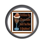 Chocolate Quitter 1 Wall Clock