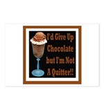 Chocolate Quitter 1 Postcards (Package of 8)