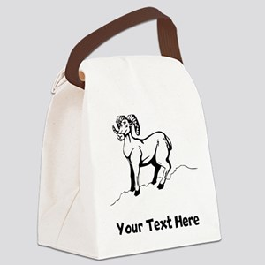 Mountain Goat (Custom) Canvas Lunch Bag