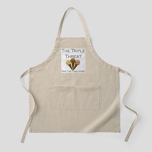 Triple Threat Take the Challe BBQ Apron