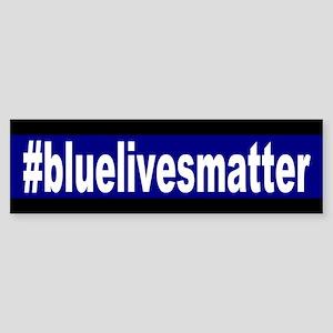 Blue Lives Matter Hashtag Bumper Sticker