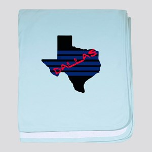 Support Dallas baby blanket