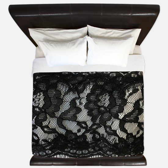 Cute Black lace King Duvet