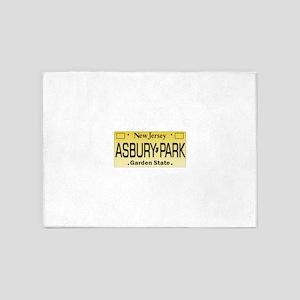 Asbury Park NJ Tag Giftware 5'x7'Area Rug