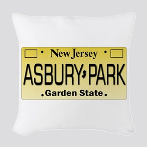 Asbury Park NJ Tag Giftware Woven Throw Pillow