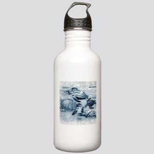 Sea Turtles Painting Stainless Water Bottle 1.0L