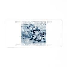 Sea Turtles Painting Aluminum License Plate