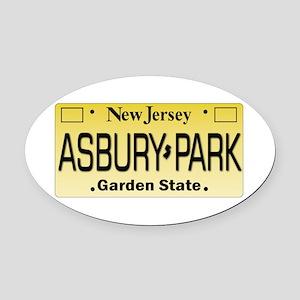 Asbury Park NJ Tag Giftware Oval Car Magnet