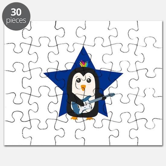 Rock Guitar Penguin Puzzle