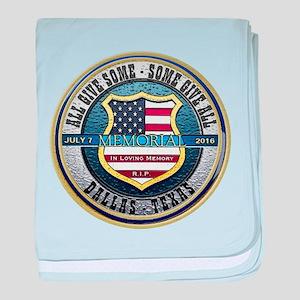 Memorial Dallas Police Thin Blue Line baby blanket