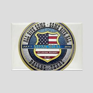 Memorial Dallas Police Thin Blue Line Magnets