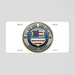 Memorial Dallas Police Thin Aluminum License Plate