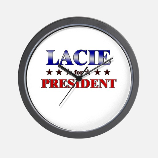 LACIE for president Wall Clock