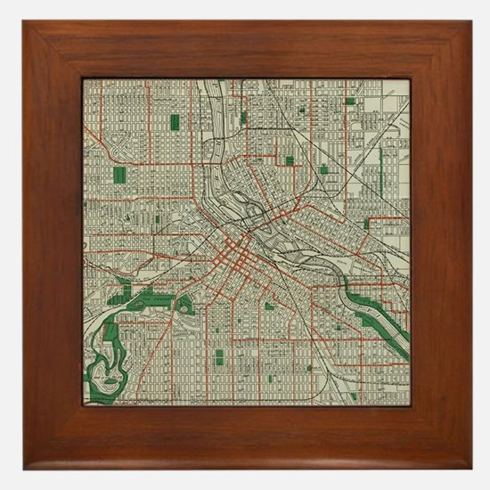 Unique Minneapolis minnesota Framed Tile