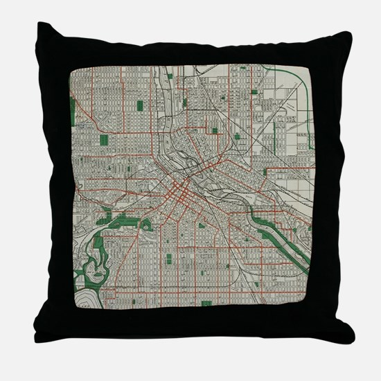 Unique Minneapolis Throw Pillow