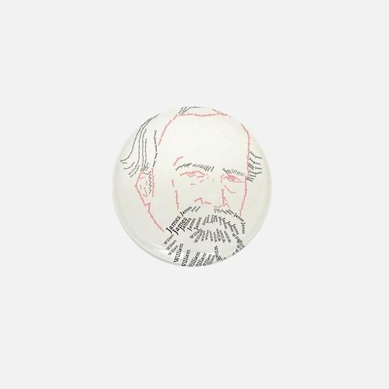 William James Face Mini Button
