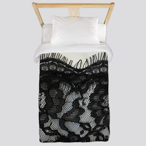 Girly Chic black lace Twin Duvet