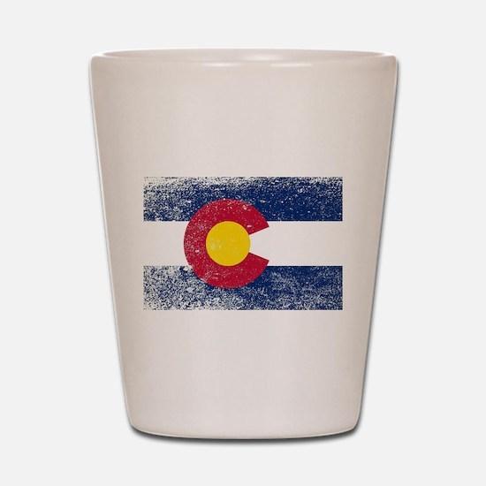 Colorado State Flag Grunge Shot Glass