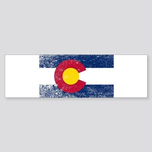 Colorado State Flag Grunge Bumper Sticker