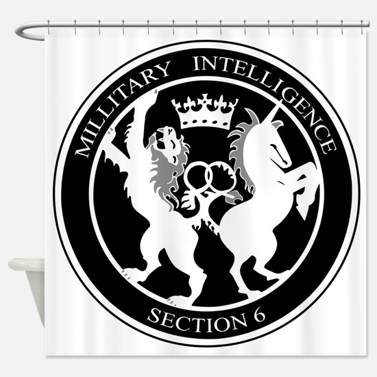 MI6 Logo Shower Curtain