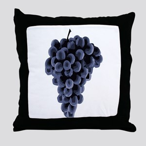 Black Grapes Throw Pillow