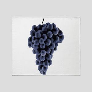 Black Grapes Throw Blanket