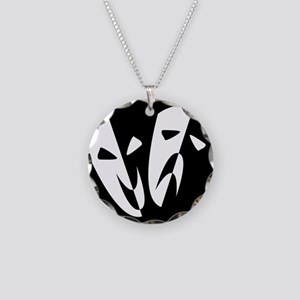 Stage Masks Necklace Circle Charm