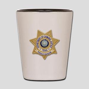 TDCJ Parole Badge Shot Glass