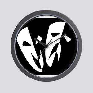 Stage Masks Wall Clock
