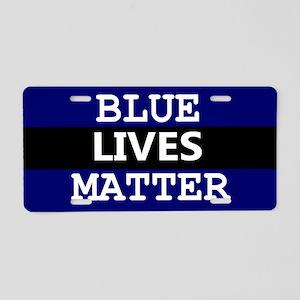 BLUE LIVES MATTER Aluminum License Plate