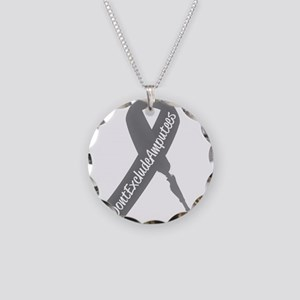 Amputee Awareness Ribbon Necklace Circle Charm