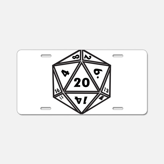 Unique D20 Aluminum License Plate