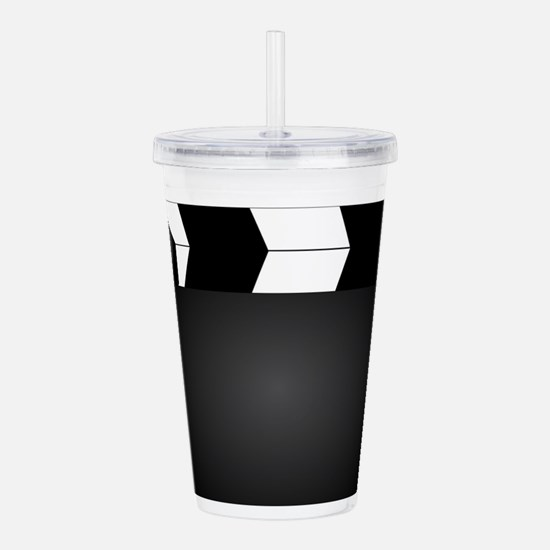 Blank Movie Clapperboa Acrylic Double-wall Tumbler