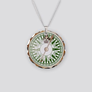 Ships Compass Necklace Circle Charm